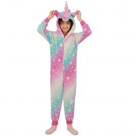 A2Z 4 Kids/® Kids Girls A2Z Onesie Extra Soft Fluffy 3D Unicorn Galaxy Print All in One Halloween Xmas Cosplay Costum New Age 2 3 4 5 6 7 8 9 10 11 12 13 Years