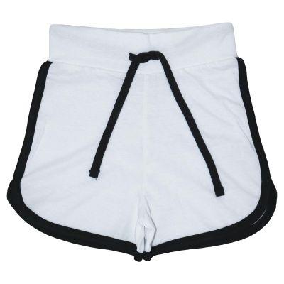A2Z Trendz Kids Girls Shorts 100% Cotton Gym Dance Sports Trendy Fashion White Summer Hot Short Running Pants New Age 5 6 7 8 9 10 11 12 13 Years