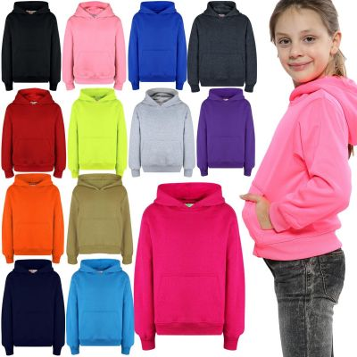 A2Z Trendz Kids Girls Boys Sweat Shirt Tops Designer's Casual Plain Pullover Sweatshirt Fleece Hooded Jumper Coats Warm Shirts Age 2 3 4 5 6 7 8 9 10 11 12 13 Years