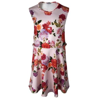 Girls Skater Dress Kids Floral Aztec Animal Neon Belted Summer Party Sun Dresses Age 7 8 9 10 11 12 13 Years
