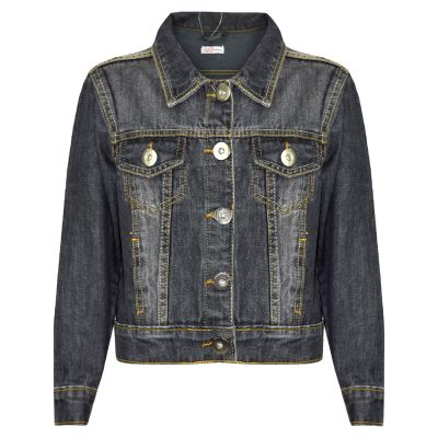 A2Z Trendz Kids Girls Jackets Designer's Denim Style Trendy Fashion Black Jeans Jacket Stylish Coats Age 3 4 5 6 7 8 9 10 11 12 13 Years