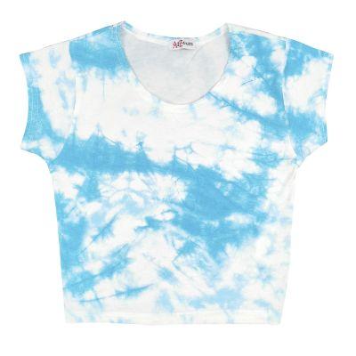 A2Z Trendz Kids Girls Crop Tops Tie Dye Print Blue Stylish Fahsion Trendy T Shirt Tank Top & Tees New Age 5 6 7 8 9 10 11 12 13 Years