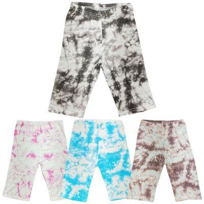 A2Z Trendz Kids Girls Cycling Shorts Tie Dye Print Gym Dance Running Trendy Fashion Summer Short Knee Length Half Pants New Age 5 6 7 8 9 10 11 12 13 Years