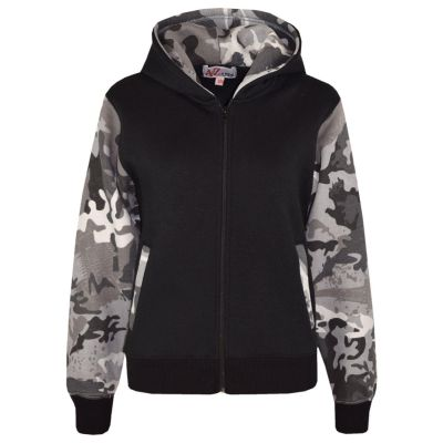 A2Z Trendz Boys Girls Jackets Kids Camouflage Charcoal Print Fleece Hooded Hoodie Zipped Top Jackets New Age 5-13 Years