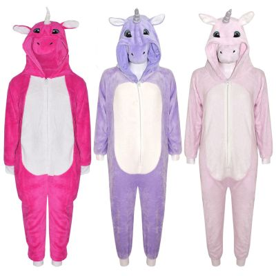 A2Z Trendz Kids Girls Boys Onesie Extra Soft Fluffy Unicorn All In One Halloween Costume New Age 7 8 9 10 11 12 13 14 Years