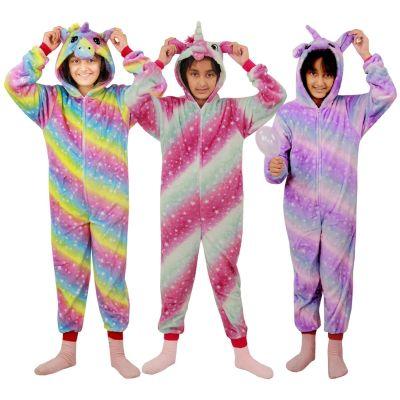 A2Z Trendz Kids Girls Unicorn A2Z Onesie Extra Soft Fluffy 3D Galaxy Print All In One Xmas Costum New Age 2 3 4 5 6 7 8 9 10 11 12 13 Years