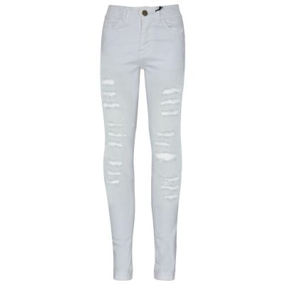 A2Z Trendz Kids Girls Skinny Jeans Designer's Denim Ripped Fashion Stretchy Jeggings Pants Stylish White Trousers New Age 3 4 5 6 7 8 9 10 11 12 13 14 Years
