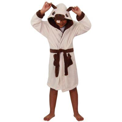 A2Z Trendz Kids Girls Boys Bathrobes Designer's 3D Animal Pug Hooded Soft Short Lush Fleece Dressing Gown Nightwear Loungewear Age 2-13 Years