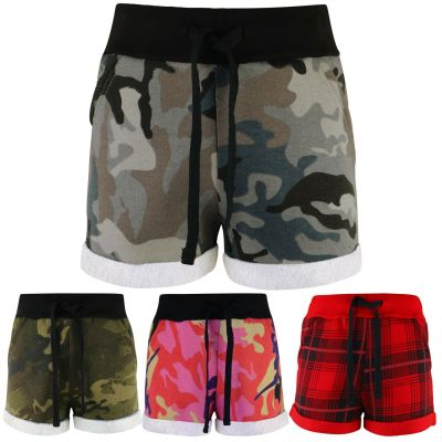 A2Z Trendz Kids Girls Shorts Fleece Camouflage Tartan Gym Dance Sports Trendy Fashion Summer Hot Short Running Pants New Age 5 6 7 8 9 10 11 12 13 Years