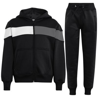 Girls Boys Contrast Panelled Tracksuit
