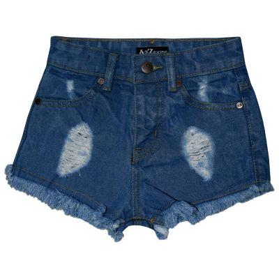 A2Z Trendz Kids Girls Shorts Light Blue Bermuda Skinny Ripped Jeans Hot Pants Summer Denim Chino Short Casual Half Pant New Age 3 4 5 6 7 8 9 10 11 12 13 Years