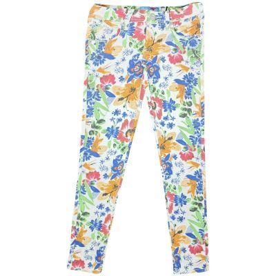 A2Z Trendz Kids Girls Floral Print Stretchy Jeans Stylish Denim Fashion Trendy Trousers Jegging Pants Age 7 8 9 10 11 12 & 13.