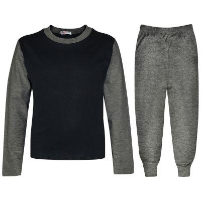 A2Z Trendz Kids Girls Boys Pyjamas Designer's Contrast Charcoal Color Plain Stylish Pajamas Nightwear Pjs New Age 2 3 4 5 6 7 8 9 10 11 12 13 Years