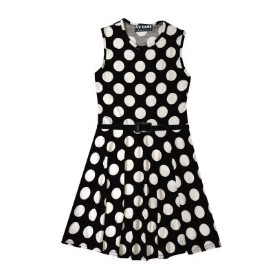 A2Z Trendz Girls Skater Dress Kids Polka Dots Print Belted Summer Party Dance Sun Dresses Age 7 8 9 10 11 12 13 Years