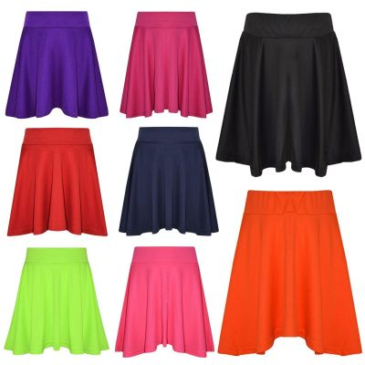 Girls Skirts Kids School Fashion Summer Skater Skirt New Age 5 6 7 8 9 10 11 12 13 Years