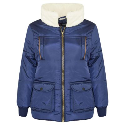 A2Z Trendz Kids Girls Boys Parka Jacket Zipped Padded Lined School Jackets Outwear Coats New Age 5 6 7 8 9 10 11 12 Years
