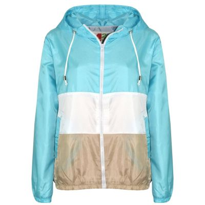 A2Z Trendz Kids Girls Boys Windbreaker Jackets Designer's Contrast Panel Aqua Hooded Light Weight Waterproof Kagoul Rain Mac Raincoat Age 5 6 7 8 9 10 11 12 13 Years