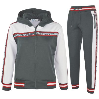 Girls Boys Unisex NY Deluxe Edition Taped Hooded Tracksuit