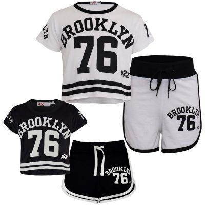 Girls Brooklyn 76 Print Summer Shorts Set