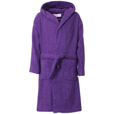Kids Girls Purple Towel Bathrobe