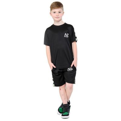 A2Z Trendz Kids Boys T Shirt Shorts A2Z Project Print Green Camouflage Panelled Top Summer Shorts Set Age 5 6 7 8 9 10 11 12 13 Years