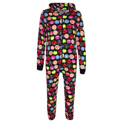 A2Z Trendz Kids Onesie Girls Boys Fruit Print Cotton Hooded A2Z Onesie One Piece All In One Jumpsuit New Age 2 3 4 5 6 7 8 9 10 11 12 13 Years