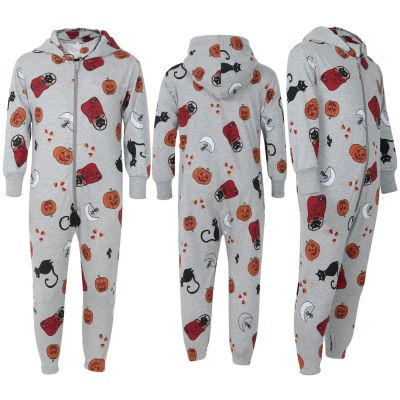 Kids Girls Boys Halloween Cotton A2Z Onesie One Piece Hooded Loungewear Jumpsuit