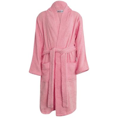 Girls Baby Pink Towel Bathrobe