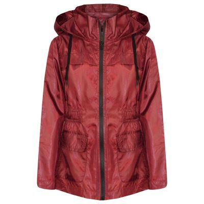 A2Z Trendz Girls Boys Raincoats Jackets Kids Wine Light Weight Waterproof Kagool Hooded Jacket Cagoule Rain Mac Thin Coats New Age 5 6 7 8 9 10 11 12 13 Years