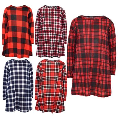 A2Z Trendz Kids Girls Swing Dress Designer's Tartan Print Trendy Fashion Top Skater Dresses Xmas Gift New Age 7 8 9 10 11 12 13 Years