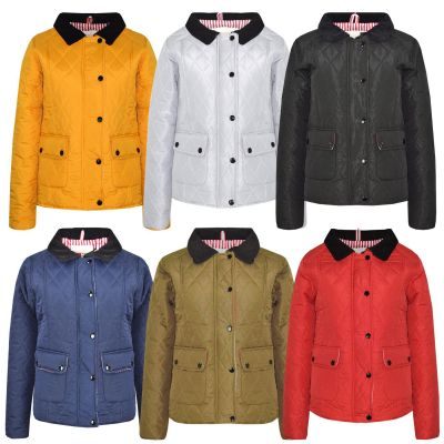 A2Z Trendz Kids Jackets Girls Designer's Quilted Padded Collar Buttoned Zipped Jacket Warm Thick Coats Age 5 6 7 8 9 10 11 12 13 Years