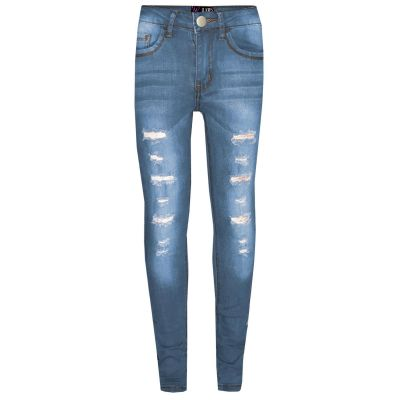 A2Z Trendz Kids Girls Skinny Jeans Designer's Light Blue Denim Ripped Stretchy Jeggings Pants Fashion Trousers New Age 3 4 5 6 7 8 9 10 11 12 13 Years