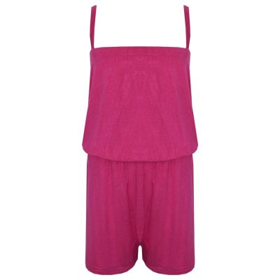 A2Z Trendz Girls Jumpsuit Kids Plain Pink Color Trendy Playsuit All In One Summer Jumpsuits New Age 5 6 7 8 9 10 11 12 13 Years