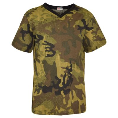 A2Z Trendz Kids Boys T Shirts Designer's 100% Cotton Camouflage Print Soft Feel Tee Ringspun Military Style T-Shirts New Age 2-13 Years