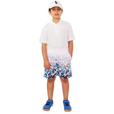 A2Z Trendz Kids Boys Girls Shorts Two Tone Camouflage Blue Chino Summer Short Casual Knee Length Half Pant New Age 3 4 5 6 7 8 9 10 11 12 13 Years