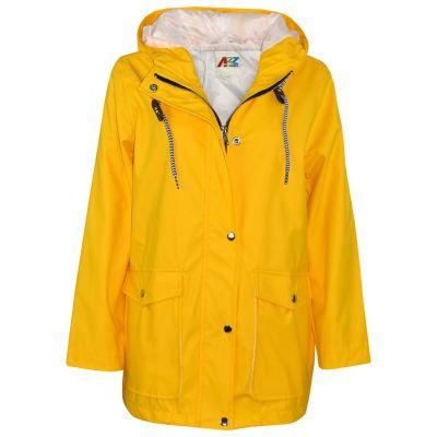 A2Z Trendz Kids Girls Boys PU Raincoat Jackets Designer's Yellow Windbreaker Waterproof Cagoule Hooded Rainmac Shower Resistant Coats Age 5 6 7 8 9 10 11 12 13 Years