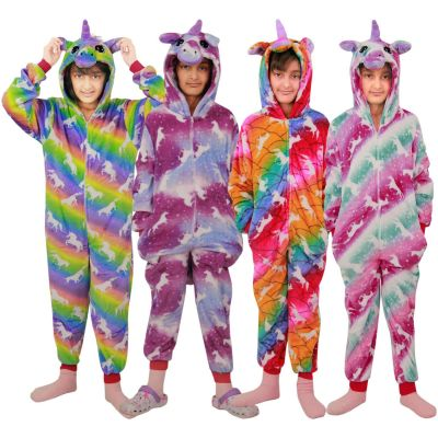 A2Z Trendz Kids Girls A2Z Onesie Extra Soft Fluffy 3D Unicorn Galaxy Print All In One Halloween Xmas Cosplay Costum New Age 2 3 4 5 6 7 8 9 10 11 12 13 Years