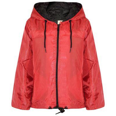 A2Z Trendz Girls Boys Raincoats Jackets Kids Red Lightweight Kag Mac Waterproof Hooded Jacket Cagoule Rain Mac Age 5 6 7 8 9 10 11 12 13 Years
