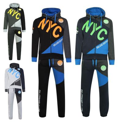 Kids Boys Tracksuit NYC DLX PROJECT Print Hoodie & Bottom Jog Suit Age 7 8 9 10 11 12 13 Years