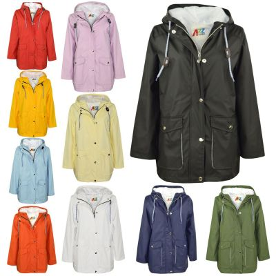 A2Z Trendz Kids Girls Boys PU Raincoat Jackets Windbreaker Hooded Waterproof Rainmac Cagoule Shower Resistant Kagoul Age 5 6 7 8 9 10 11 12 13 Years