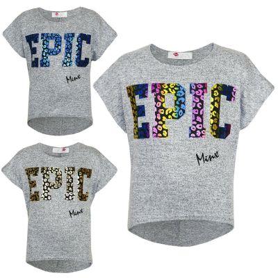 "Kids Girls "" EPIC "" Printed Crop Top Stylish Trendy Fashion Top 7 8 9 10 11 12 13 Years"