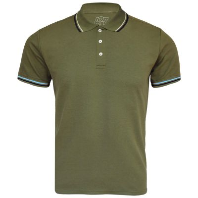 A2Z Trendz Kids Boys Girls Polo T Shirts Designer's Plain Olive Color School T-Shirts PE Tops New Age 3 4 5 6 7 8 9 10 11 12 13 Years