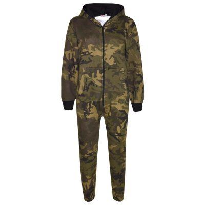 Unisex Kids Girls Boys Camouflage Print Hooded Stylish Fashion Onesie Age 2 3 4 5 6 Years