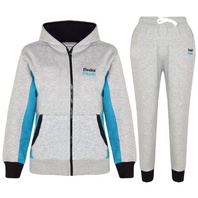 A2Z Trendz Kids Boys Girls Tracksuit Designer's Pedal Power Print Grey Zipped Hooded Top & Botom Jogging Suit Joggers New Age 5 6 7 8 9 10 11 12 13 Years