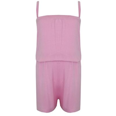A2Z Trendz Girls Jumpsuit Kids Plain Baby Pink Color Trendy Playsuit All In One Summer Jumpsuits New Age 5 6 7 8 9 10 11 12 13 Years