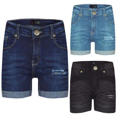 A2Z Trendz Kids Shorts Girls Denim Ripped Chino Bermuda Shorts Casual Knee Length Half Pant New Age 5 6 7 8 9 10 11 12 13 Years