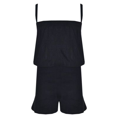 A2Z Trendz Girls Jumpsuit Kids Plain Black Color Trendy Playsuit All In One Summer Jumpsuits New Age 5 6 7 8 9 10 11 12 13 Years