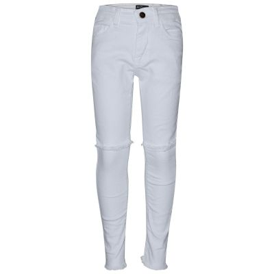 A2Z Trendz Girls Stretchy Jeans Kids White Denim Ripped Pants Fashion Frayed Trousers Jeggings Age 5 6 7 8 9 10 11 12 13 Years