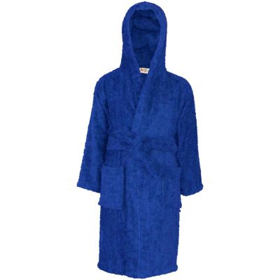 Kids Girls 100% Cotton Soft Terry Royal Hooded Bathrobe Luxury Dressing Gown