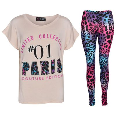 A2Z Trendz Girls Top Kids Limited Collection #01 Paris Couture Eddition Print Trendy Top & Fashion Legging Set Age 7 8 9 10 11 12 13 Years